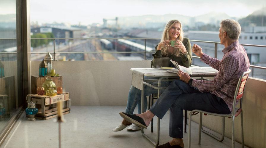 Visavie – Kaffee auf dem Balkon